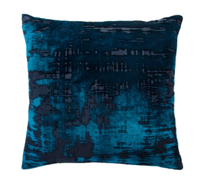 Brush Stroke Velvet Pillow in Cobalt Black- 8 Size Variants