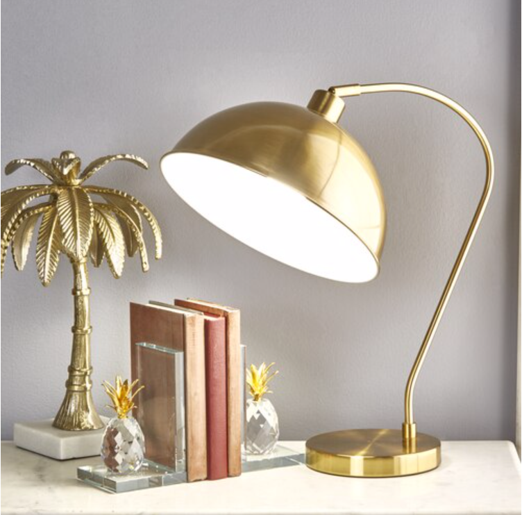 Metal Dome Shade Table Lamp