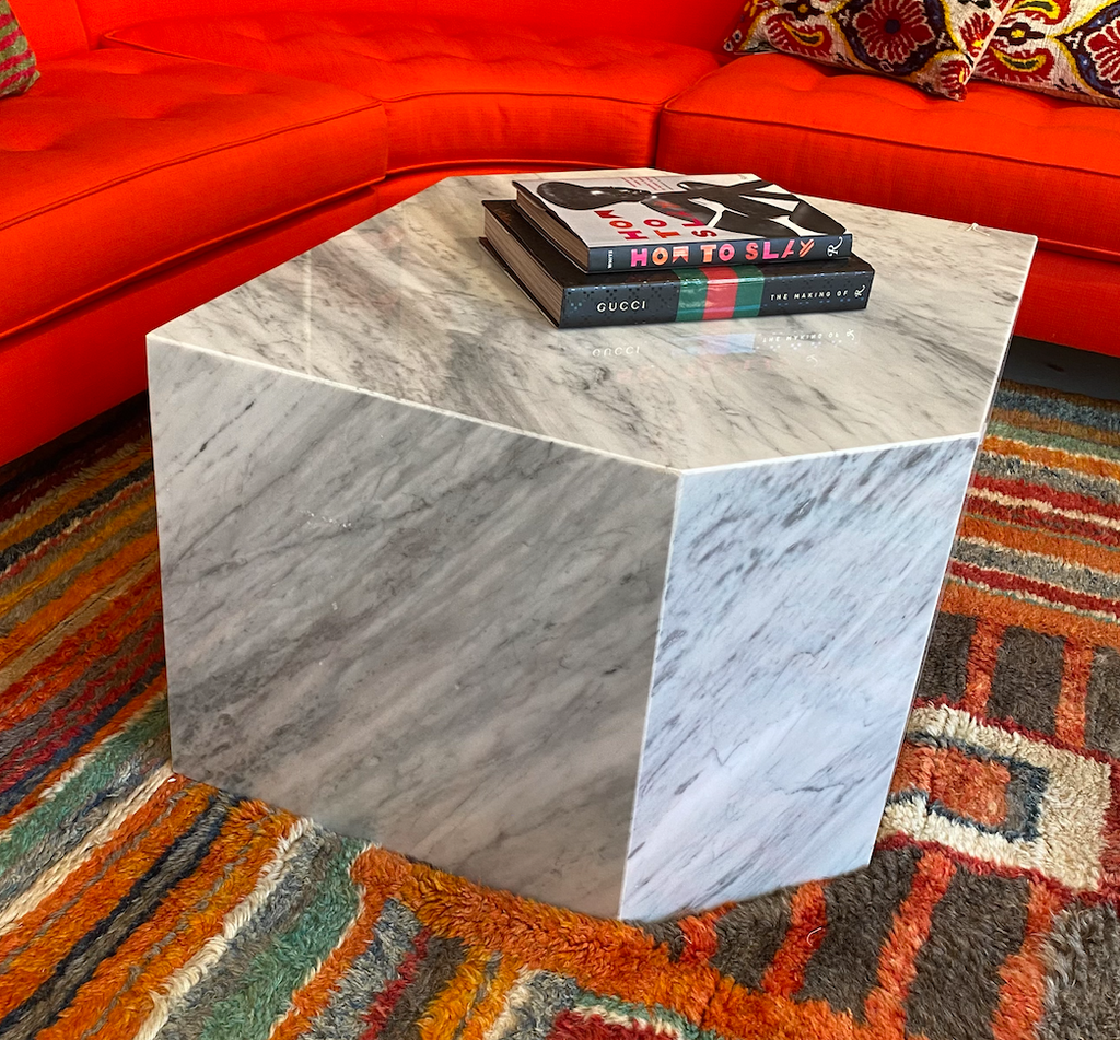 Geometric Marble Coffee Table