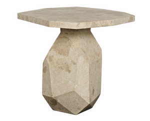 Polyhedron Marble Side Table