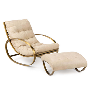 Sim Leather Occasional Chair (available with or without foot stool)