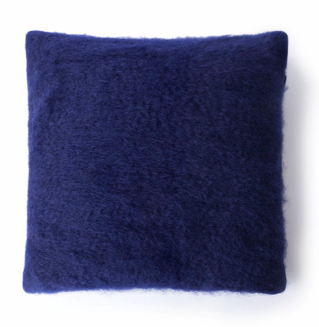 Blue Mohair Pillow Case