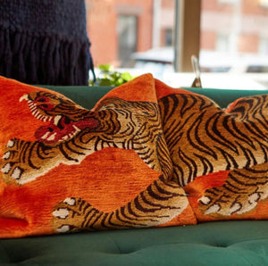 Tiger Silk Pillows Set of 3- 2 color variants
