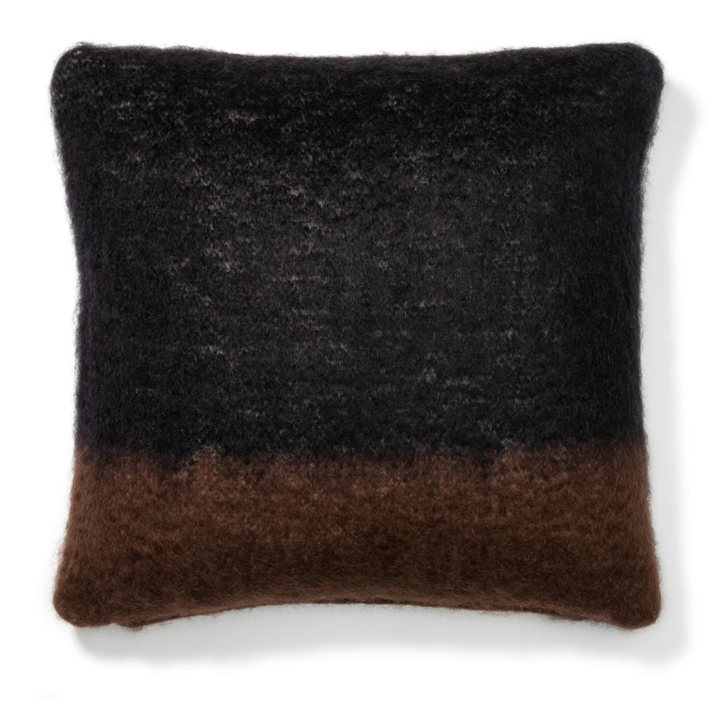 Black Mohair Pillow Case