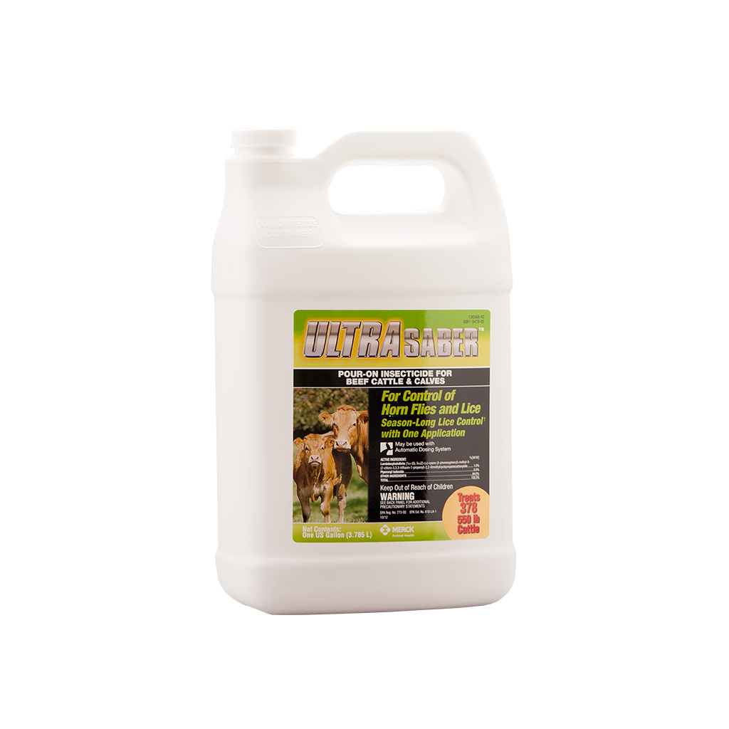 Ultra Saber Pour-On Insecticide - 1 Gallon