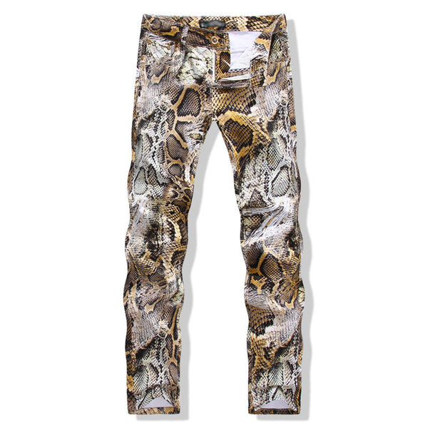 glam bret Snakeskin Pants animal print Trousers - retro mens clothing vintage menswear mens fashion style