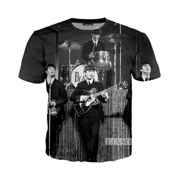 beatles Rock Band Rockabilly Shirts T-shirt Hoodie Sweatshirt - retro mens clothing vintage menswear mens fashion style