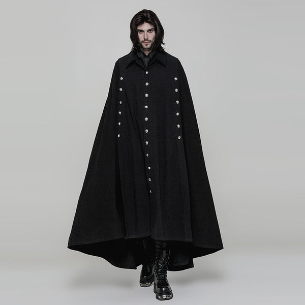 tepes cape Gothic Men Jacket Wool long cloak - retro mens clothing vintage menswear mens fashion style