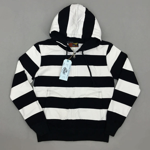 jailbird black white Striped Biker jacket Men's Hoodie Vintage Slim Fit Motorcycle Rider - retro mens clothing vintage menswear mens fashion style