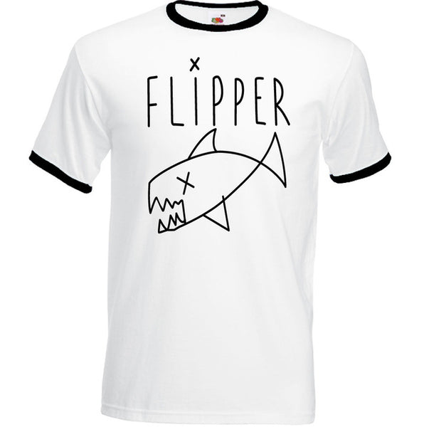 Kurt Cobain Flipper ringer shirt Mens T-Shirt Nirvana Grunge - retro mens clothing vintage menswear mens fashion style