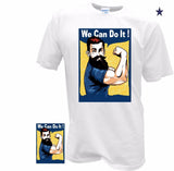 """We Can Do It"" Mens feminist T-Shirt Retro Classic Vintage Ww2 - retro mens clothing vintage menswear mens fashion style"
