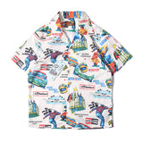 race car Mens Hawaiin Aloha Shirts Short Sleeve Pattern Vacation Beach Tops - retro mens clothing vintage menswear mens fashion style