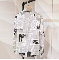 newspaper Shirt Male Vintage Mens Printed Clothes - retro mens clothing vintage menswear mens fashion style
