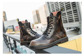 riot genuine leather boots military boots retro motorcycle combat skull rivets men shoes - retro mens clothing vintage menswear mens fashion style