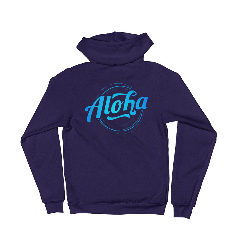 """Aloha"" (neon blue logo) men's/unisex hoodie sweater"