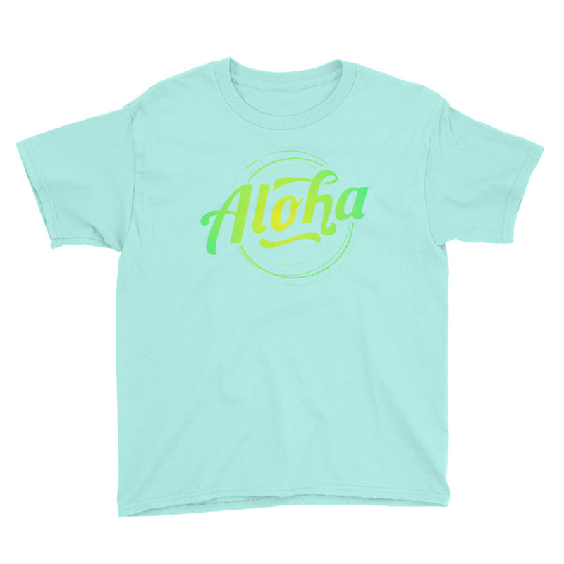 """Aloha"" (neon green logo) boy's t-shirt"