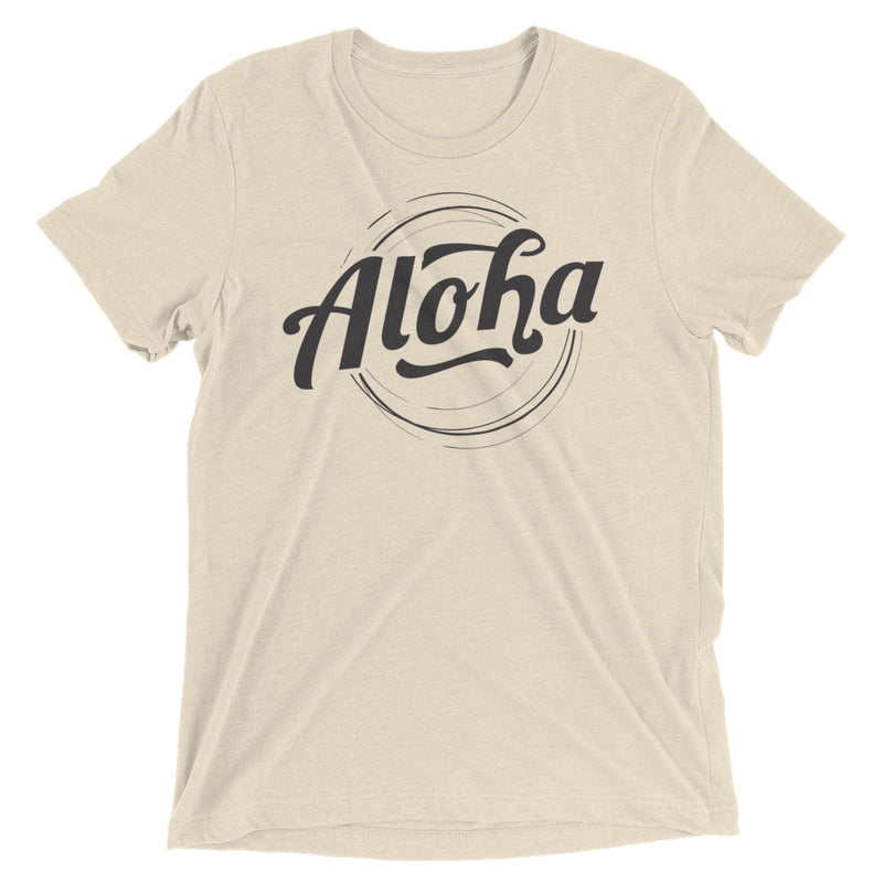 """Aloha"" (black logo) men's/unisex short sleeve t-shirt"