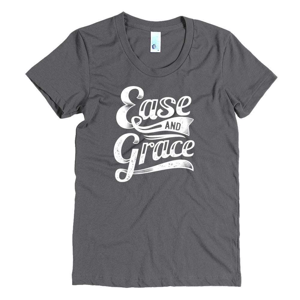 """Ease and Grace"" (white logo) women's crew neck t-shirt"