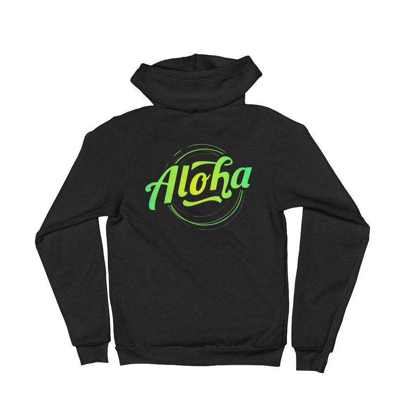 """Aloha"" (neon green logo) men's/unisex hoodie sweater"