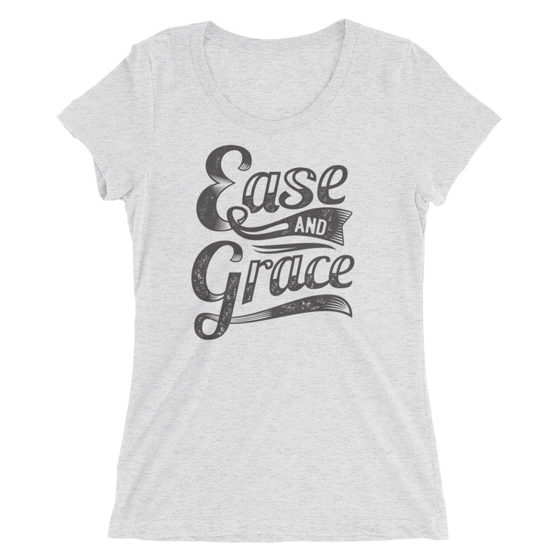 """Ease and Grace"" (black logo) women's short sleeve t-shirt"