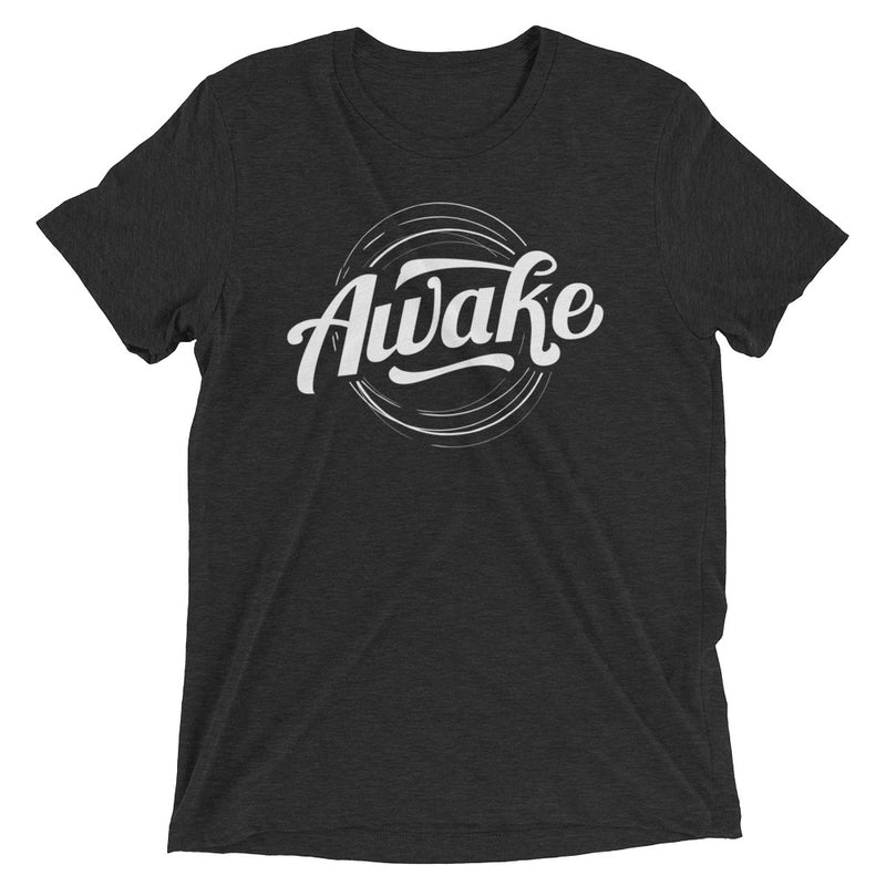 """Awake"" (white logo) short sleeve men's t-shirt"
