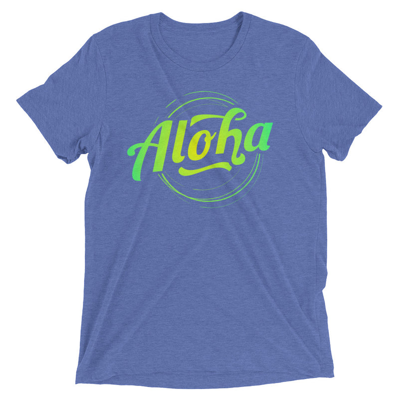 """Aloha"" (neon green logo) men's/unisex short sleeve t-shirt"