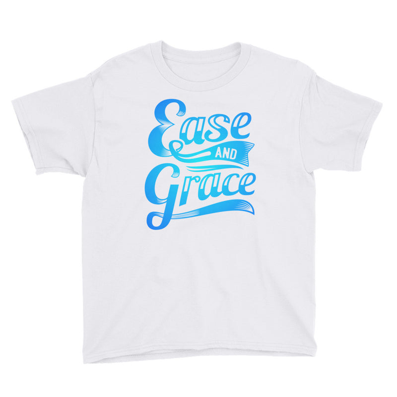 """Ease and Grace"" (neon blue logo) boy's t-shirt"