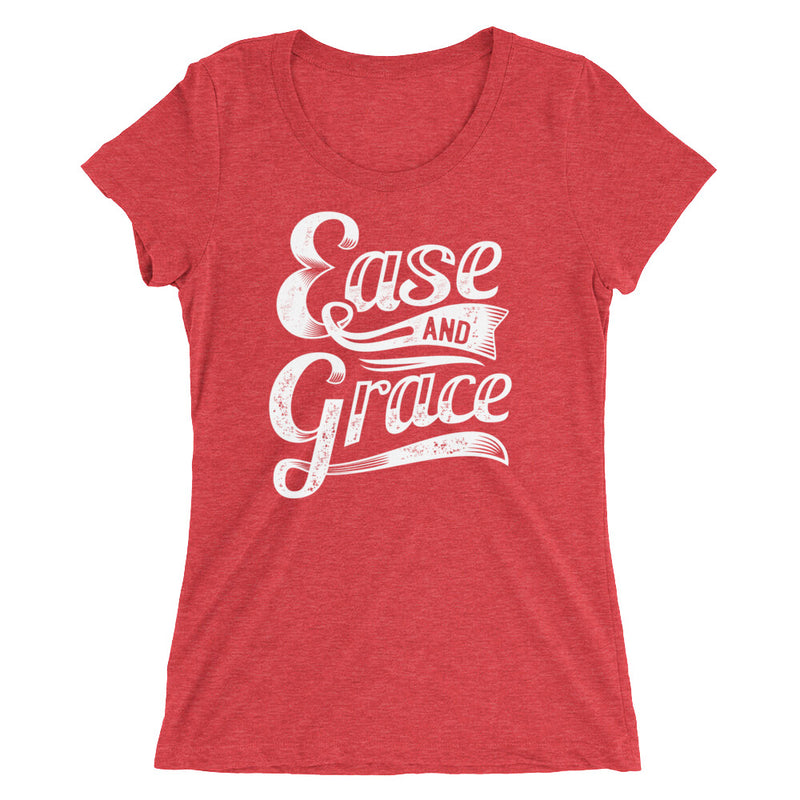 """Ease and Grace"" (white logo) women's short sleeve t-shirt"