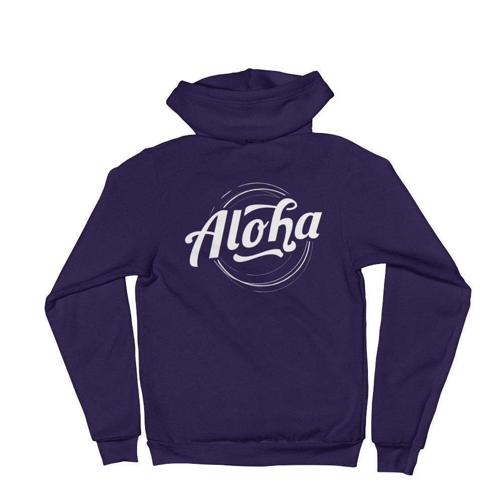 """Aloha"" (white logo) men's/unisex hoodie sweater"