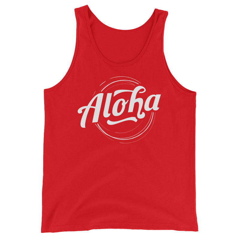"""Aloha"" (white logo) men's/unisex tank top"