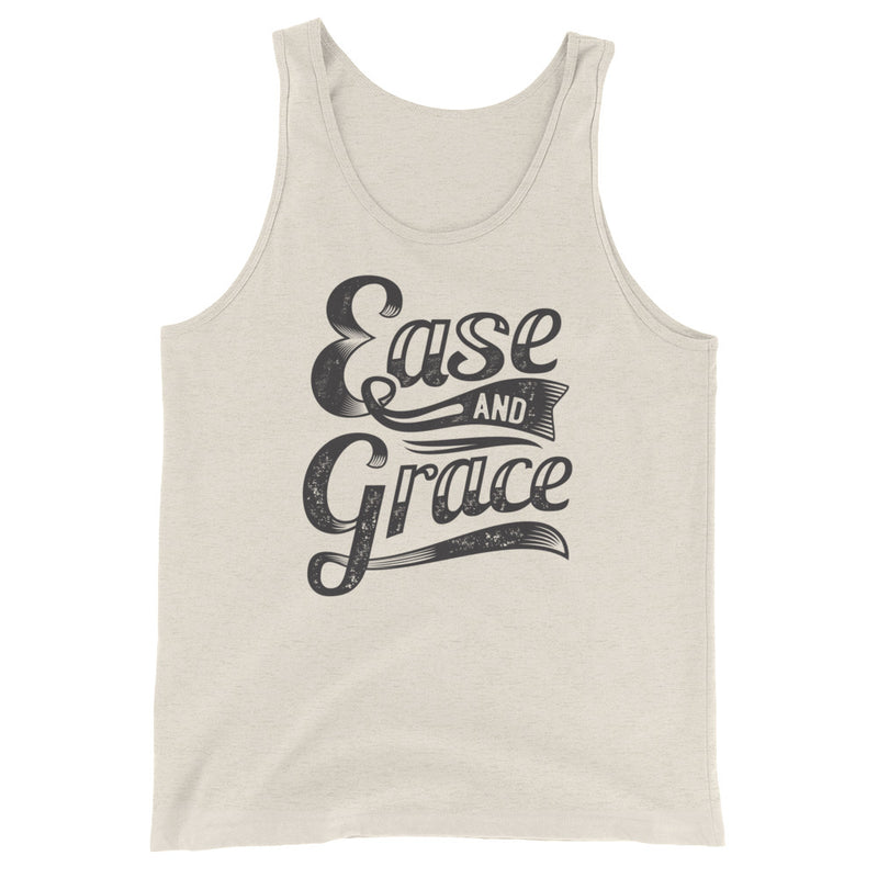 """Ease and Grace"" (black logo) men's/unisex  Tank Top"