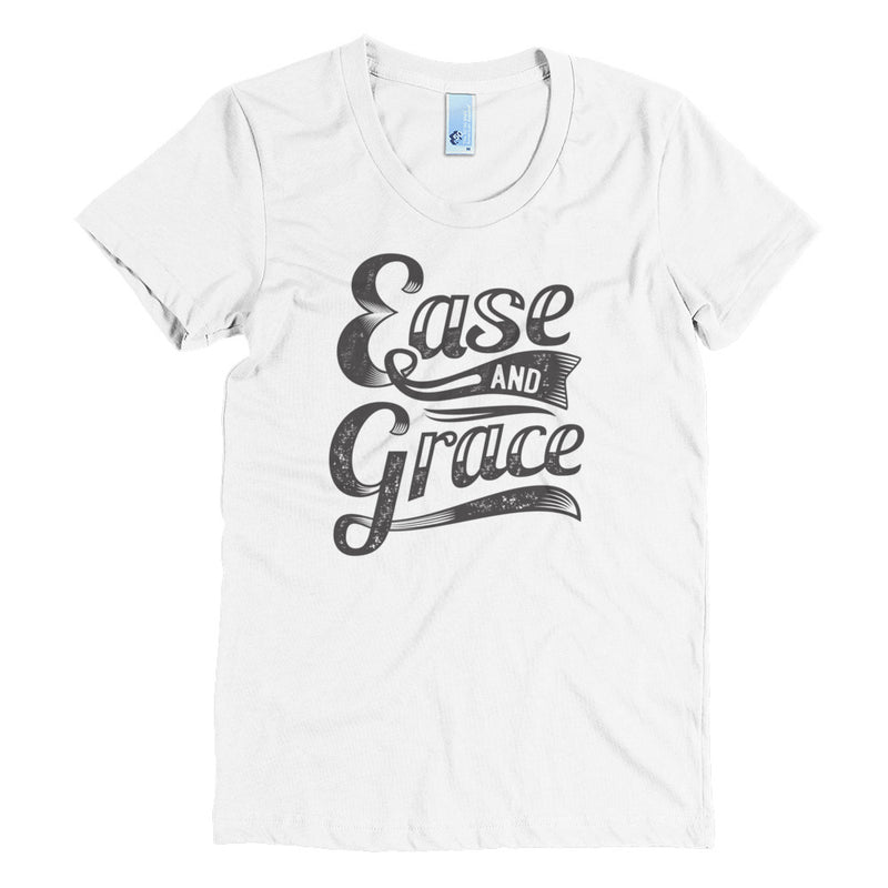 """Ease and Grace"" (black logo) women's crew neck t-shirt"