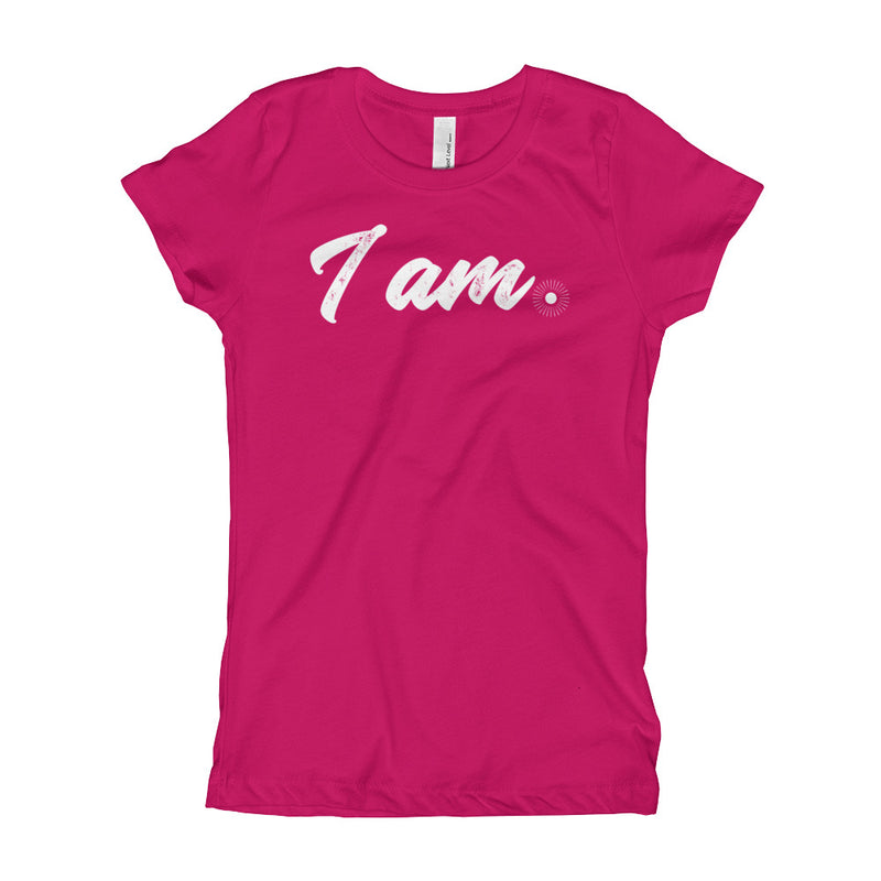 """I Am"" (white logo) girl's t-shirt"