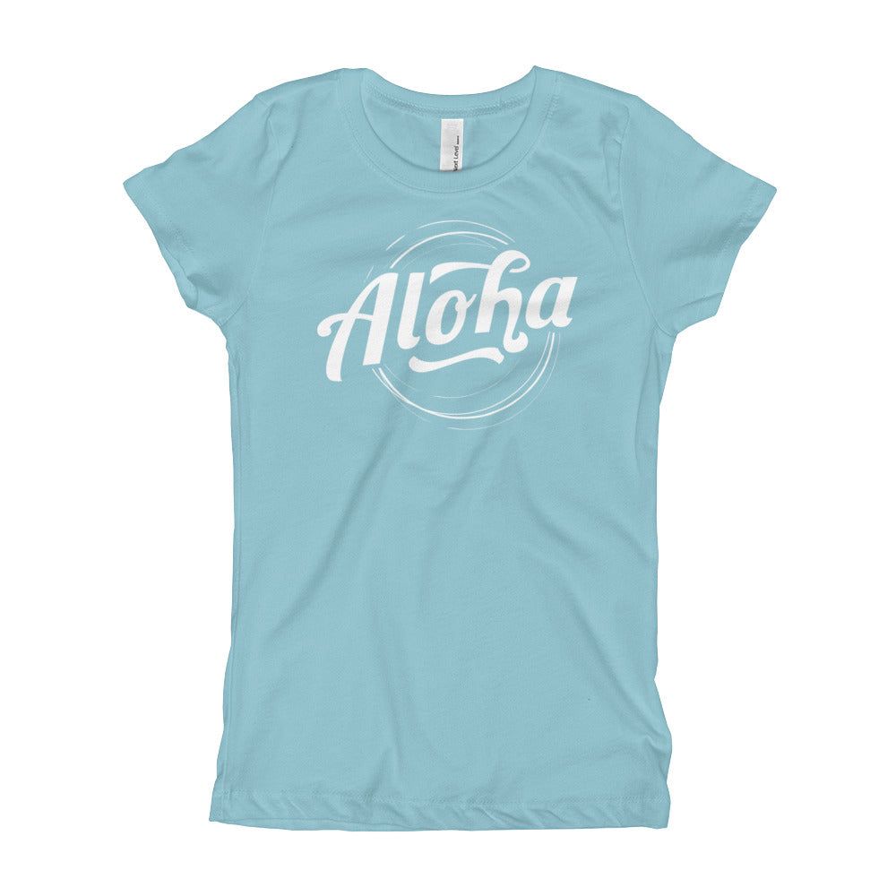 """Aloha"" (white logo) girl's t-shirt"