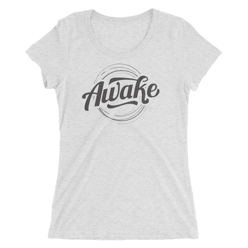 """Awake"" (black logo) women's short sleeve t-shirt"