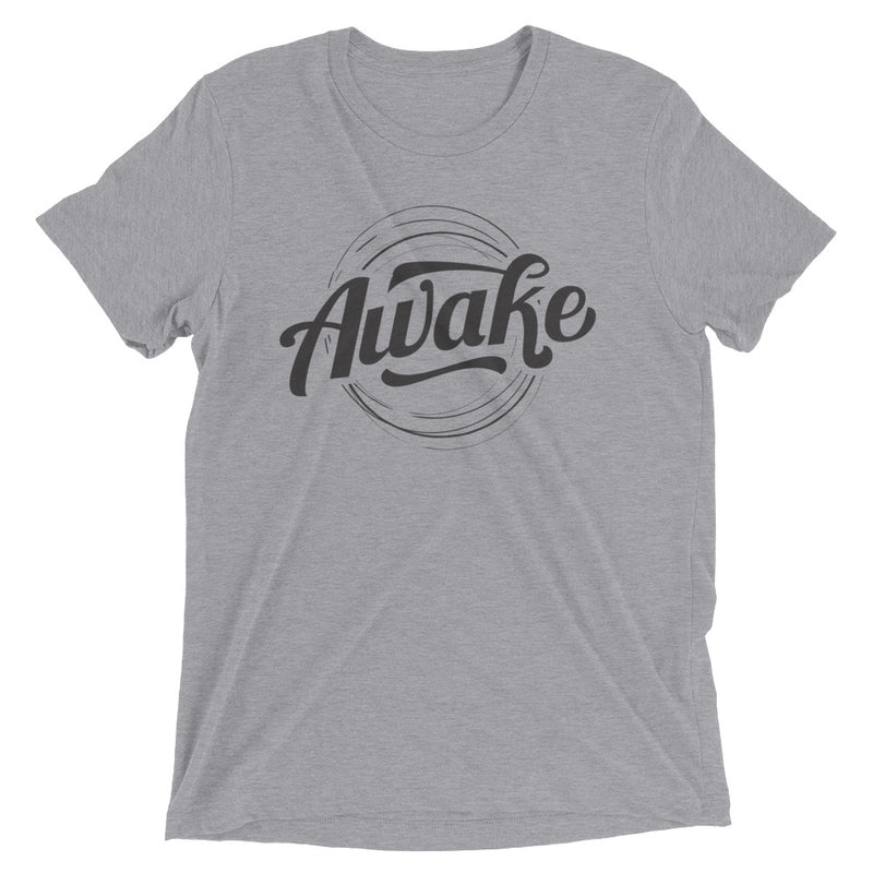 """Awake"" (black logo) short sleeve men's t-shirt"