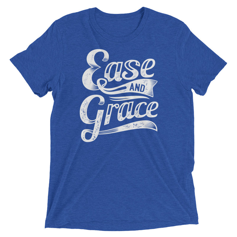 """Ease and Grace"" (white logo) men's/unisex short sleeve t-shirt"