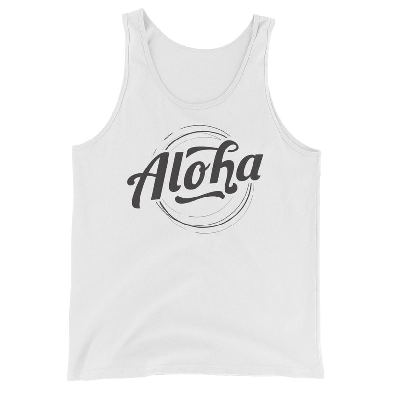 """Aloha"" (black logo) men's/unisex tank top"