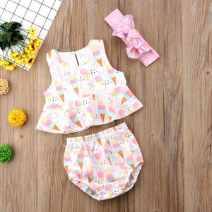 Little Triple Scoop - Baby Romper | Australia - Baby Swagsies