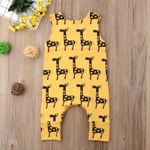 Little Yellow Giraffe - Baby Romper | Australia - Baby Swagsies