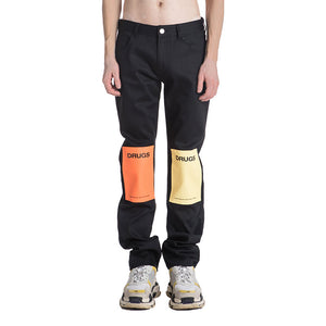 Raf Simons Drugs Patched Jeans