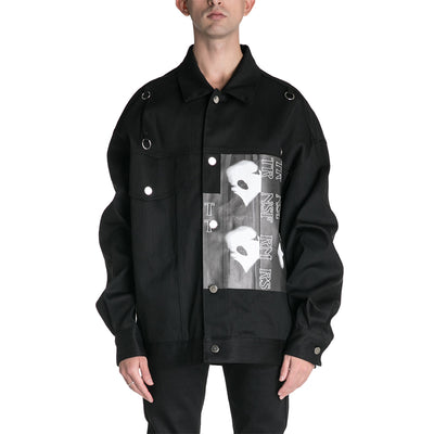 Raf Simons 19S/S Denim Jacket with Rings Bold Head