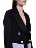 Ann Demeulemeester Lightlaine Jacket with Contrast Lining