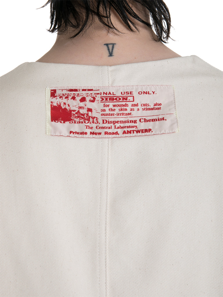 Raf Simons V-Neck Denim Top with Patches