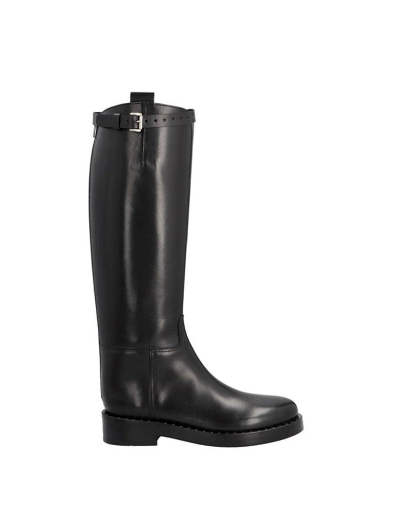 Ann Demeulemeester Lucido Nero Riding Boots