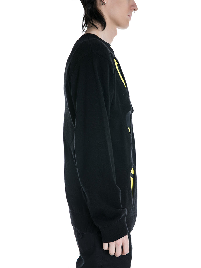 Raf Simons Sweater with Cut Outs and Patches