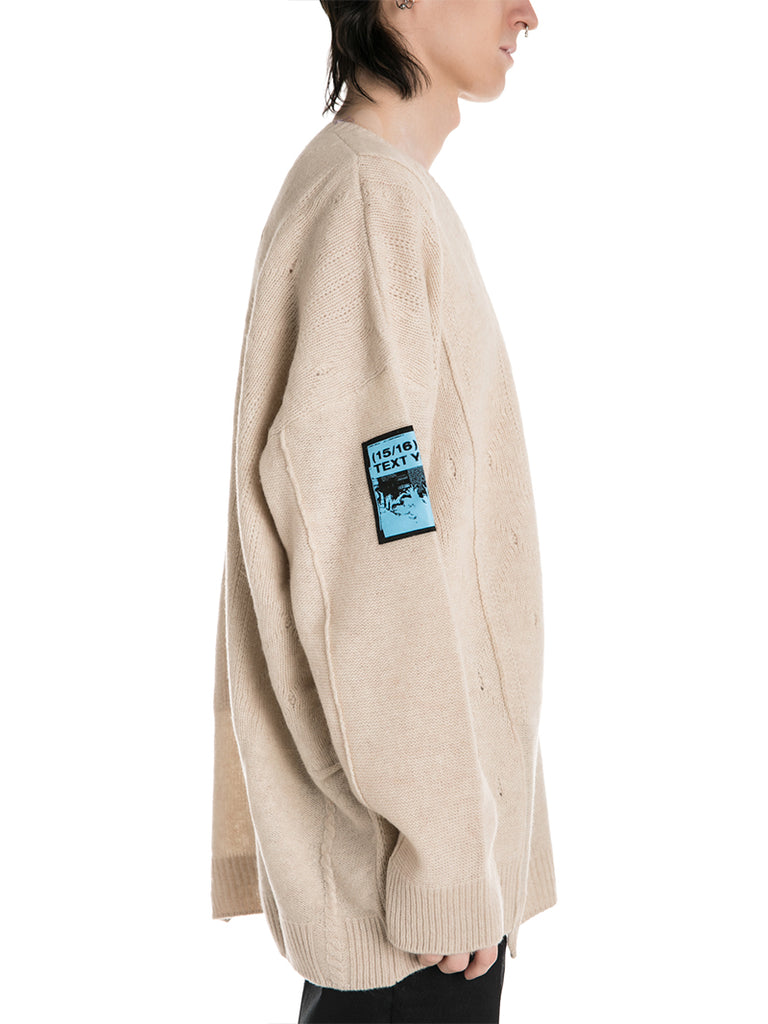 Raf Simons Oversized Sweater with Patches