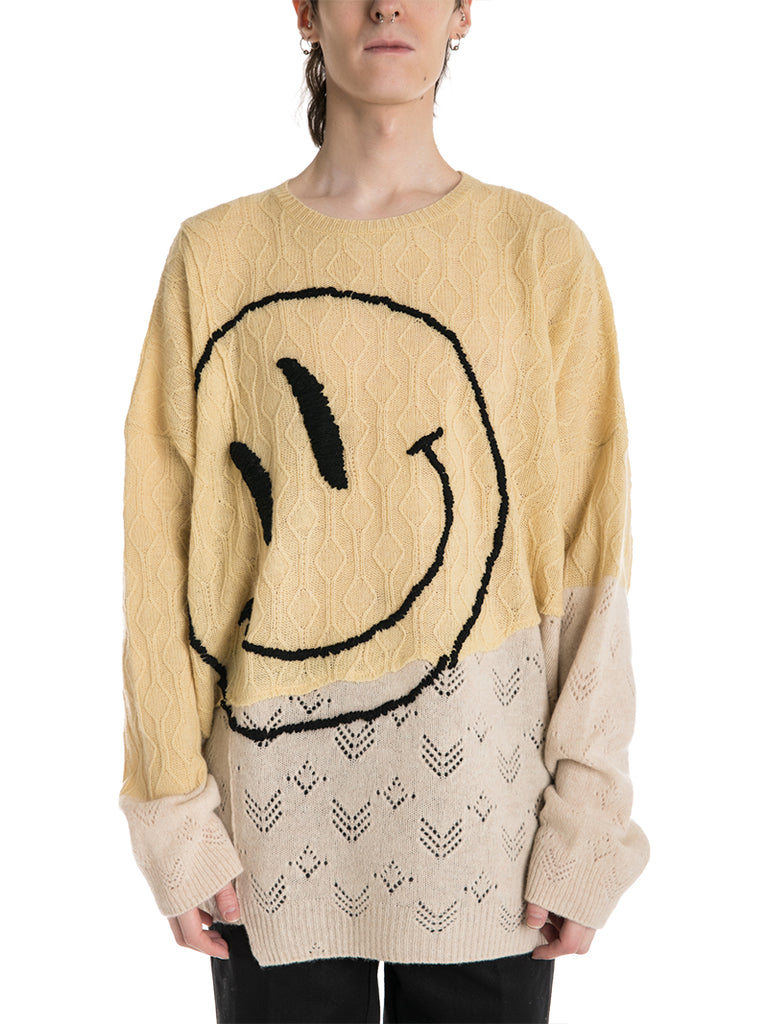 Raf Simons Oversized Smiley Collage Sweater