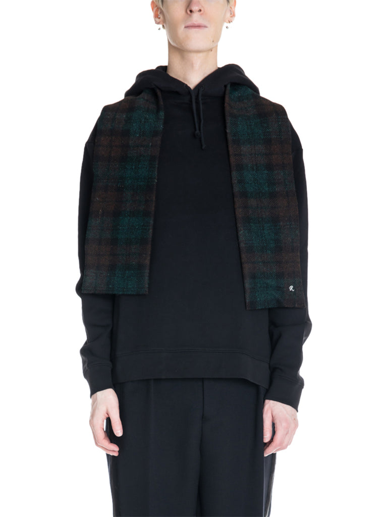 Raf Simons Hoodie With Detachable Wool Scarf