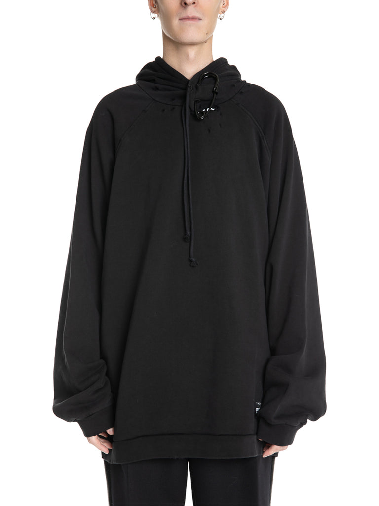 Raf Simons Destroyed Hoodie With Pin